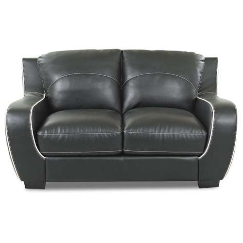 Morris Home Furnishings Ezekial Ezekial Loveseat with Contrast Welt