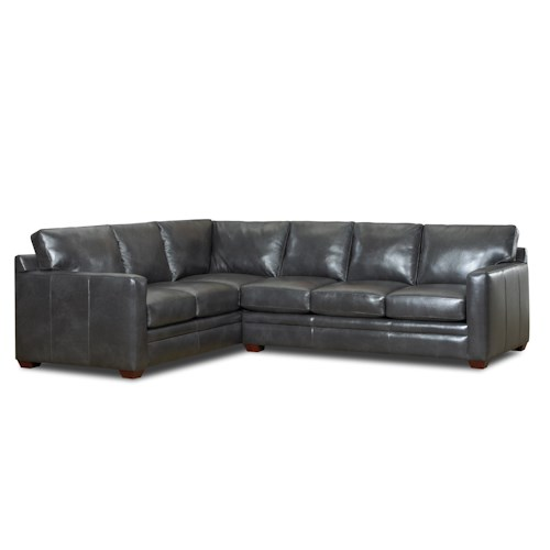 Klaussner Fedora Contemporary Two Piece Sectional Sofa