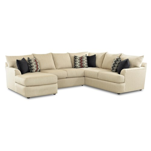 Elliston Place Findley Sectional Sofa With Left Side Chaise Lounger