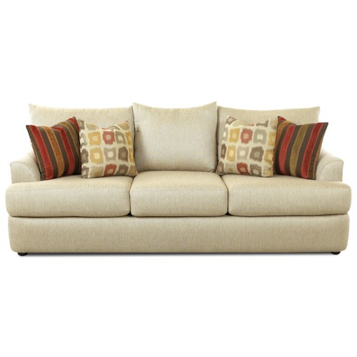 Elliston Place Findley Three Over Three Sofa With Accent Pillows