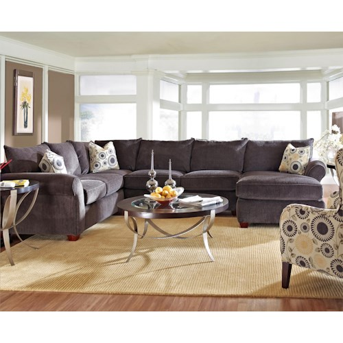 Klaussner Fletcher Transitional Sectional Sofa