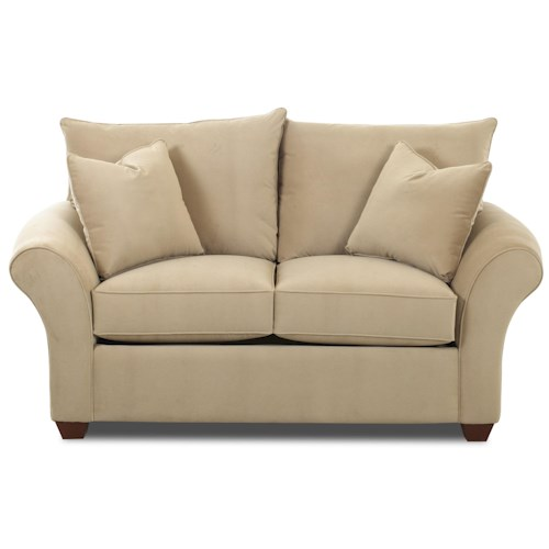 Elliston Place Fletcher Transitional Loveseat with Rolled Arms
