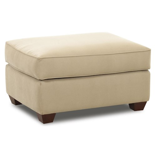 Elliston Place Fletcher Rectangular Ottoman with Block Feet