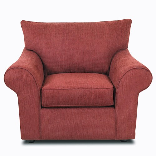 Elliston Place Folio Rolled Arm Upholstered Chair