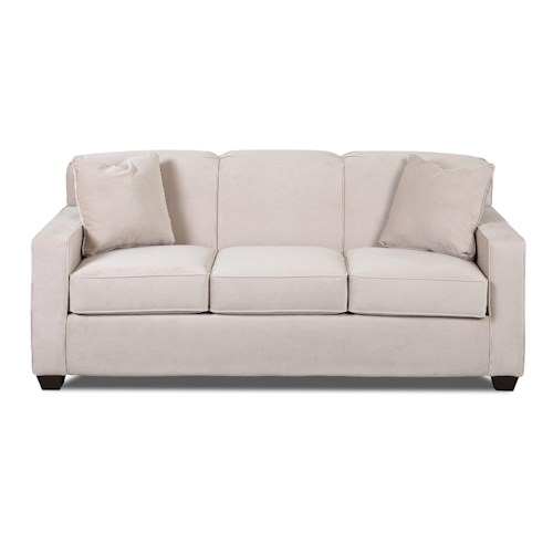 Elliston Place Gillis Contemporary Innerspring Queen Sleeper Sofa with Tight Back and Track Arms