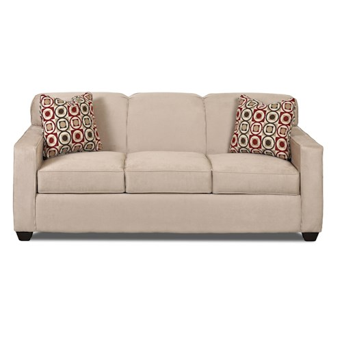 Elliston Place Gillis Contemporary Sofa with Tight Back and Track Arms