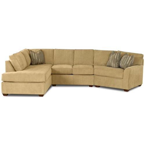 Klaussner Grady Contemporary Sectional Sofa with Left Chaise