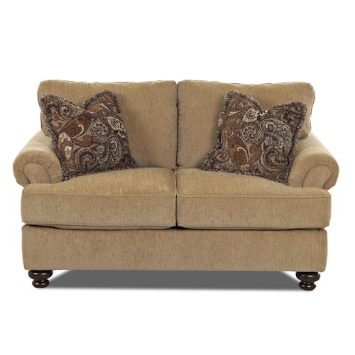 Elliston Place Greenvale Traditional Loveseat with Rolled Arms