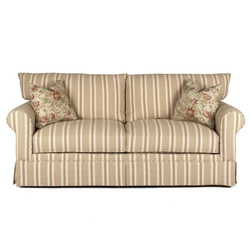 Elliston Place Grove Park Casual Sofa with Accent Pillows