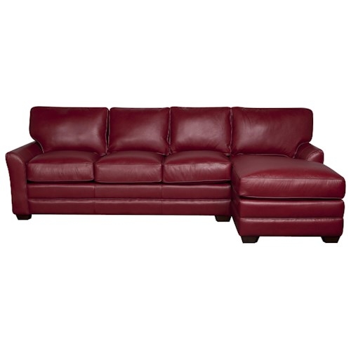 Elliston Place Hayden 100% Leather 2-Piece Sectional