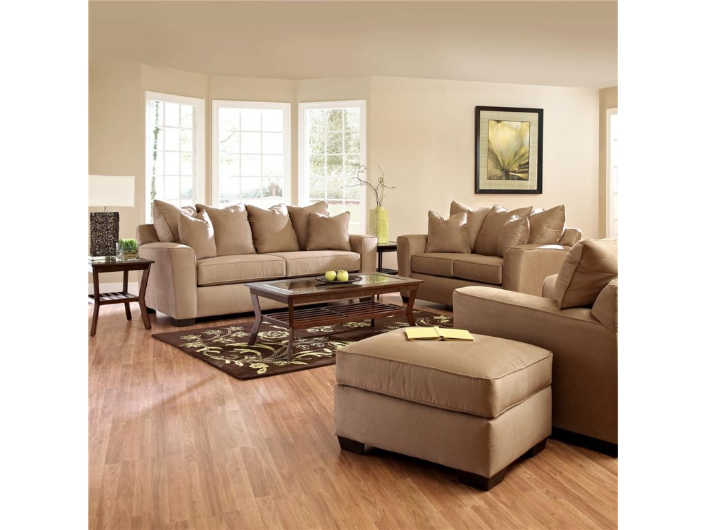 Shown with Sofa, Chair & Ottoman