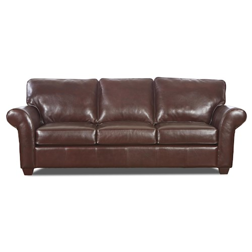 Elliston Place Heathmont Transitional Sofa with Rolled Arms