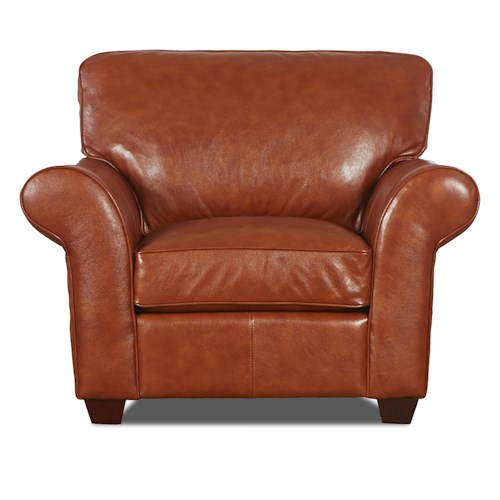 Elliston Place Heathmont Transitional Chair with Rolled Arms