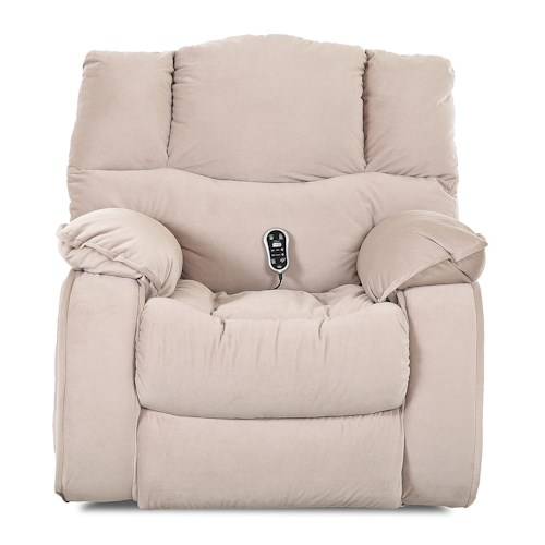 Elliston Place Hillside Casual Swivel Rocking Reclining Chair with Plush Pillow Arms and Headrest