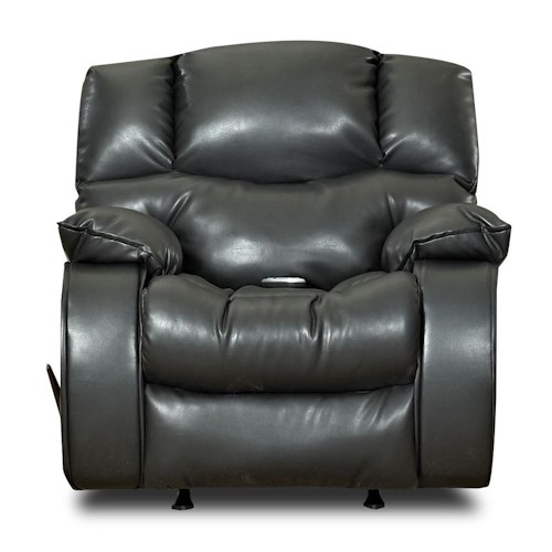Klaussner Hillside Casual Reclining Chair with Headrest and Pillow Top Arms