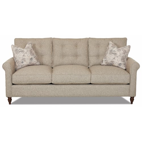 Klaussner Holland Traditional Sofa with Button Tufted Back Cushions