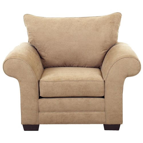 Klaussner Holly Attached Pillow Back Chair