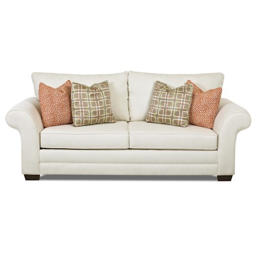 Elliston Place Holly Contemporary Dreamquest Queen Sleeper Sofa