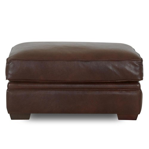 Elliston Place Homestead Leather Ottoman