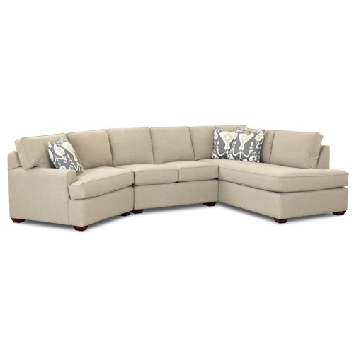Elliston Place Hybrid Sectional Sofa with Left-Facing Sofa Chaise