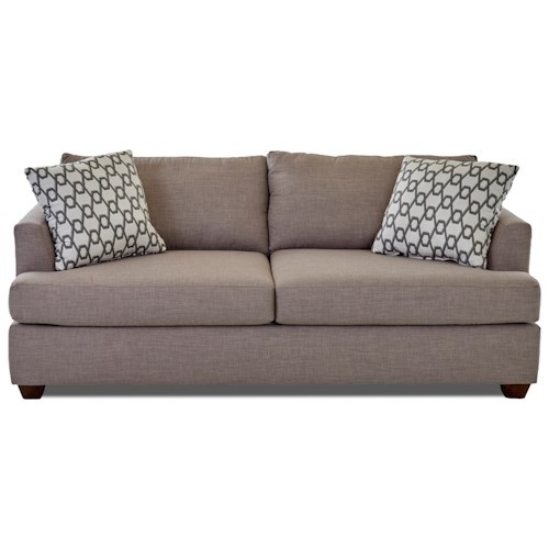 Elliston Place Jack Queen Inner Spring Sleeper Sofa with Track Arms
