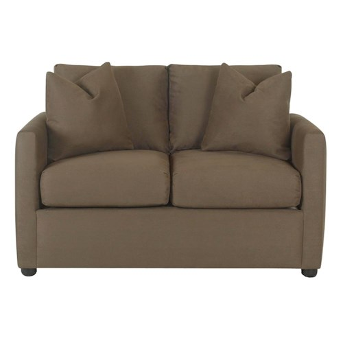 Klaussner Jacobs Casual Upholstered Stationary Love Seat
