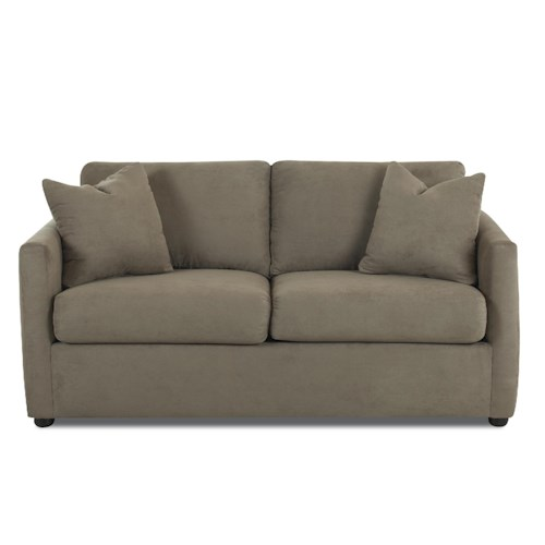 Klaussner Jacobs Casual Upholstered Stationary Sofa