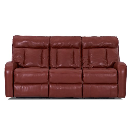 Klaussner Jagger  Reclining Leather Chaise Sofa