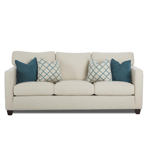Elliston Place Jeffrey  Sofa with Track Arms and Accent Arm Pillows