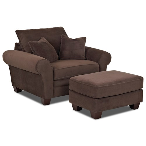 Klaussner Kazler Oversized Chair and Ottoman Set