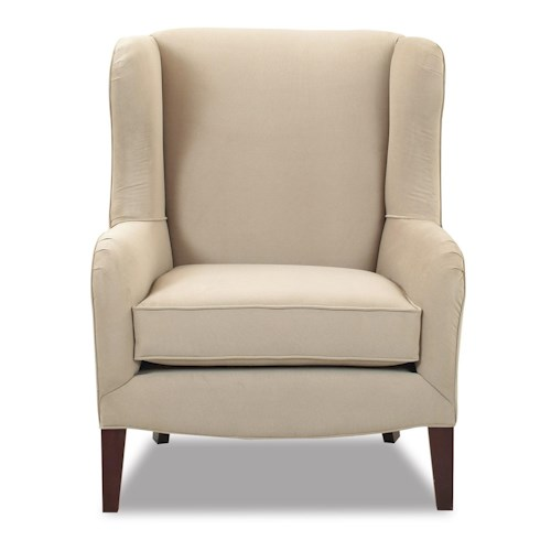 Klaussner Chairs and Accents Polo Accent Wing Chair