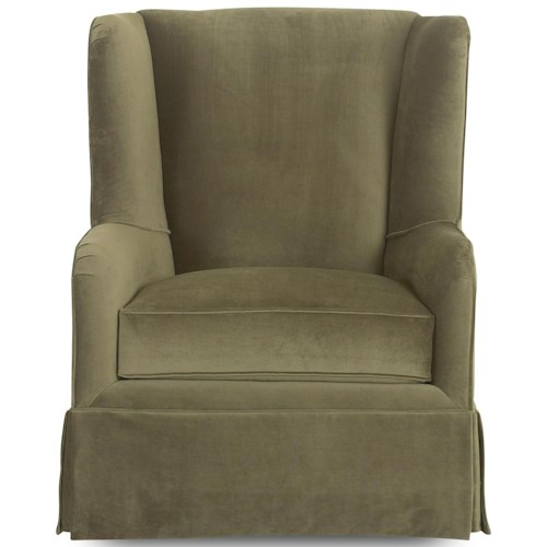 Klaussner Chairs and Accents Lauren Transitional Wing Chair with Skirt