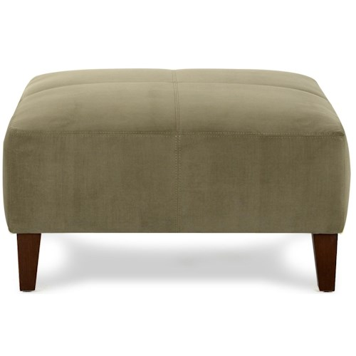 Klaussner Chairs and Accents Nile Oversized Contemporary Square Cocktail Ottoman