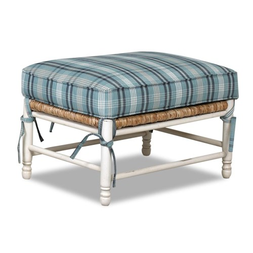 Klaussner Chairs and Accents Homespun Accent Ottoman with Exposed Wood