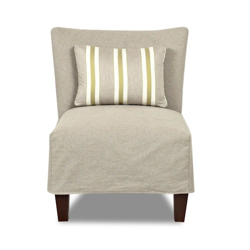 Klaussner Chairs and Accents Armless Accent Chair with Slipcover