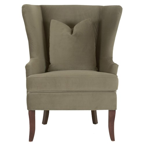 Elliston Place Chairs and Accents Serenity Wing Chair with Down Blend Cushions