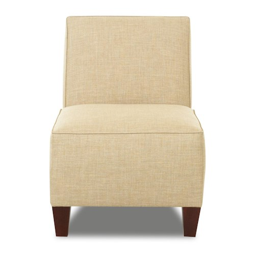 Klaussner Chairs and Accents Kaylee Armless Accent Chair