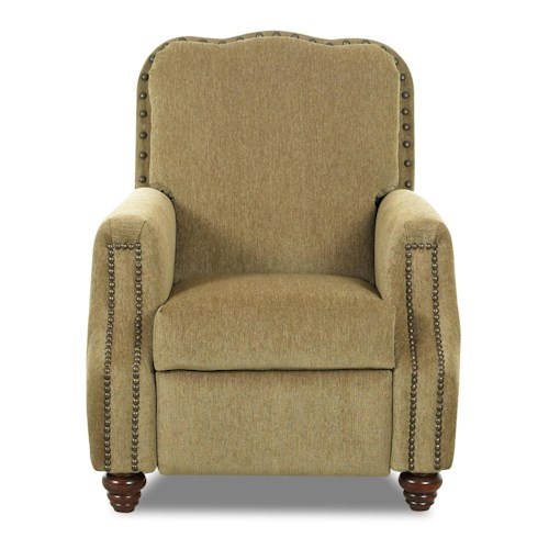 Elliston Place High Leg Recliners Gabby High Leg Recliner with Nailhead Trim