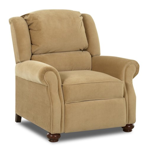 Klaussner High Leg Recliners Julia High Leg Recliner