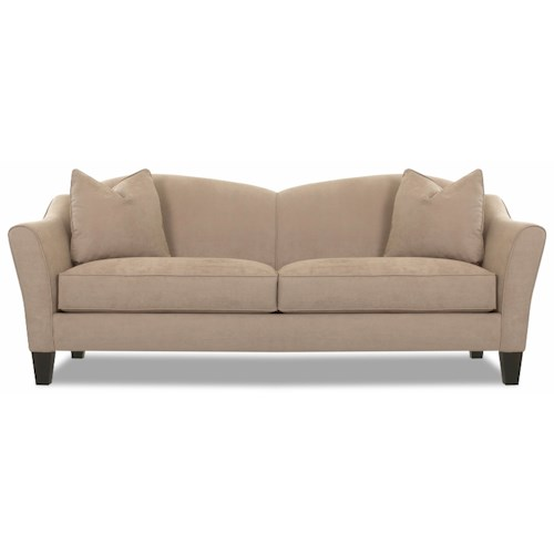 Klaussner Kris Contemporary Upholstered Stationary Sofa
