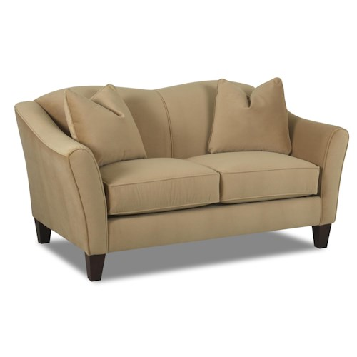 Elliston Place Kris Contemporary Upholstered Stationary Love Seat