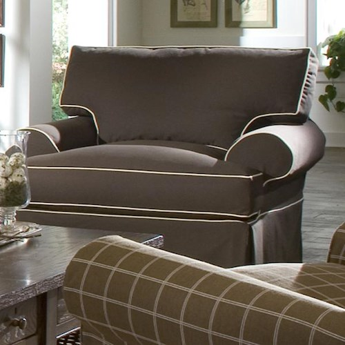 Elliston Place Lahoya Chair with Slipcover and Blend Down Cushions