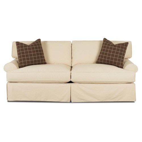 Klaussner Lahoya Sofa with Slipcover and Blend Down Cushions