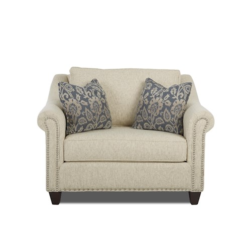 Elliston Place Langley Big Chair with Nailhead Trim