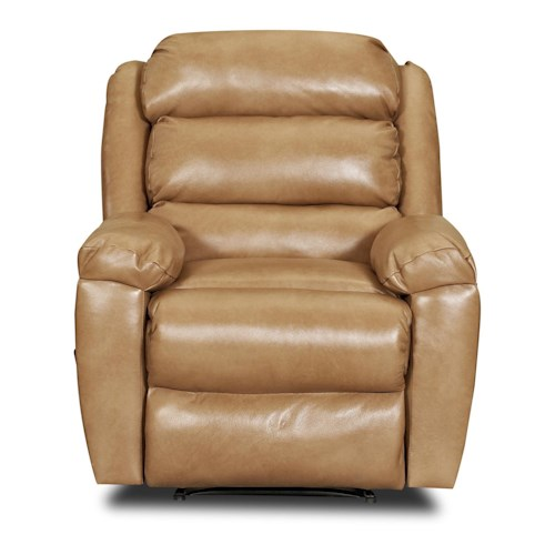 Elliston Place Lanier Casual Reclining Rocking Chair with Sectioned Back