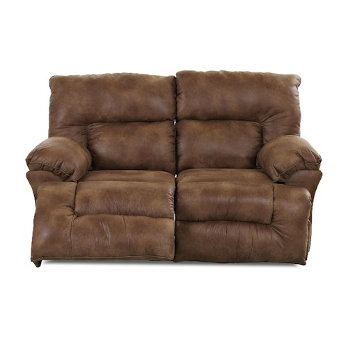 Elliston Place Laramie Casual Reclining Loveseat with Split Back Cushions