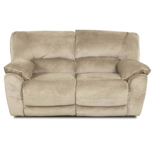Klaussner Laredo  Contemporary Styled Power Reclining Loveseat