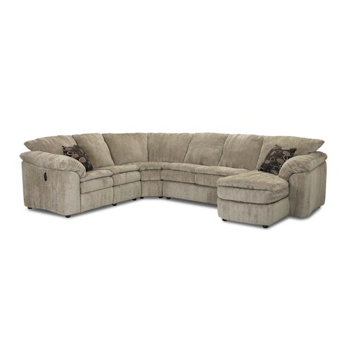 Elliston Place Legacy Left Arm Reclining Love Seat and Right Arm Chaise Sectional