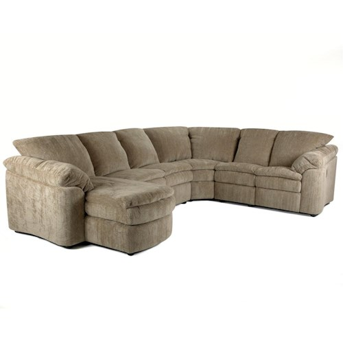 Elliston Place Legacy Right Arm Reclining Loveseat and Left Arm Chaise Sectional
