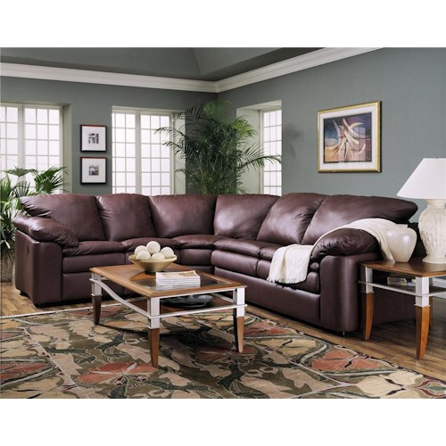 Elliston Place Legacy Dual Reclining Left Arm Loveseat and Right Arm Sleeper Sectional Sofa